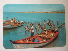 "Cartolina Viaggiata ""Pescatores  Isla Margarita"" 1987 - Venezuela"