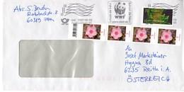 Auslands - Brief Von Briefzentrum 60 Mit 90 Cent Mischfrankatur WWF 2019 - BRD