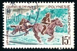 POLYNESIE 1967 - Yv. 49 Obl.  - Courses De Chevaux  ..Réf.POL23537 - Polynésie Française