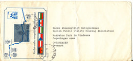 Yugoslavia Cover Sent To Denmark Zagreb 2-12-1985 Minisheet Rowing Regatta  Wien Bratislava Ingolstadt Budapest Vidin - Airmail