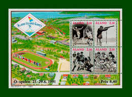 ".1991 Finnland Aland Block Nr. 1 Mi.-Nr. 47 - 50 **  POSTFRISCH  ""Internationale Sportspiele D.kl.Inseln  (B27pf) - Aland"