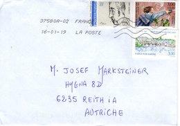 Auslands - Brief Von 37580A - 57120 Rombas Mit 8,50 Franc Mischfrankatur 2019 - 2018-... Marianne L'Engagée