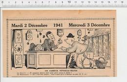 2 Scans Presse 1941 Humour Métier Horloger Horlogerie Horloge Réveil-matin Temps Qui Passe Jeu Loto Loterie 223XT - Non Classés