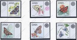 Iles Salomon, Yvert 597/602, Scott 660/665, MNH - Samoa
