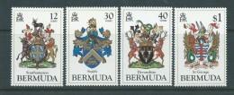 Bermuda 1984 Coats Of Arms Series II Set Of 4 MNH - Bermuda