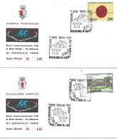 SG8207 - MARCOFILIA - ANNULLO MOENA CAVALESE- 11° MARCIALONGA DI FIEMME E FASSA - 31.1.82 - SU BUSTE UFFICIALI - 6. 1946-.. Repubblica