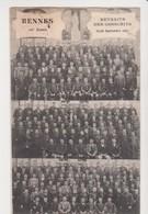 26635 RENNES France 35 Retraite Conscrits Sept 1907 -16ieme Année -homme Curé  -ed Sans - Rennes