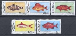 Iles Salomon, Yvert 616/620, Scott 680/684, MNH - Samoa