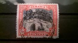 FRANCOBOLLI STAMPS GIAMAICA JAMAICA 1901 USED CASCATA LLANDOVERY - Giamaica (1962-...)