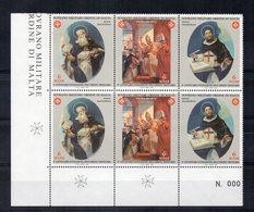 S.M.O.M.- 1998 - Fondazione Dell'Ordine Trinitario - 2 Trittici - 6 Valori - Con Bordo Di Foglio - Nuovi - (FDC13869) - Malte (Ordre De)