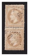 Paire Verticale Du N° 28 B Obl. - 1853-1860 Napoleone III