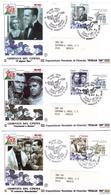 3 Fdc Filagrano:GIORNATA CINEMA 1998 ; No Viaggiate - 6. 1946-.. Repubblica