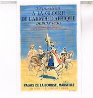 PUBLICITE EXPOSITION  LA GLOIRE L ARMEE AFRIQUE MARSEILLE  CPM  TBE MA25 - Mostre Coloniali 1906 – 1922