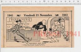 2 Scans Presse 1941 Humour Boutique Parfumerie Dame Femme Cheveux Blancs Crème Anti-rides  223XT - Non Classés