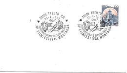SG8209 - MARCOFILIA - ANNULLO TRENTO- 30° FILMFESTIVAL MONTAGNA - 25.4.82 - SU BUSTA - 6. 1946-.. Repubblica