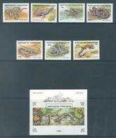 KIRGHIZISTAN  - 1996 -  MNH/** - REPTILE - Yv 73-79 BLOC 14 - Lot 18899 - Kirghizistan