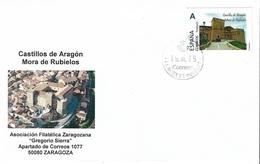 SPAIN. COVER MORA DE RUBIELOS CASTLE. TUSELLO - 1931-Hoy: 2ª República - ... Juan Carlos I