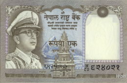 Nepal 1 Rupee (P16) 1972 -UNC- - Népal