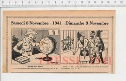 2 Scans Presse 1941 Humour Mappemonde Ancienne Livre Robinson Crusoé Myopie Abri Bombardement Guerre  223XT - Non Classés