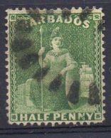 BARBADE ( POSTE ) : Y&T  N°  8  TIMBRE  TRES  BIEN  OBLITERE . - Barbades (...-1966)