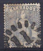 BARBADE ( POSTE ) : Y&T  N°  9  TIMBRE  TRES  BIEN  OBLITERE . - Barbades (...-1966)