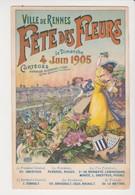 26641 Rennes 35F Fete Fleurs 1905 Affiche Dessin  Deshayes Blason Femme 1900 Oberthur - Ed ? - Rennes