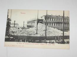 VENEZIA  LE ROVINE DEL CAMPANILE DI SAN MARCO 14.07.1902  BN NV - Venezia