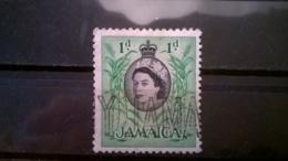 FRANCOBOLLI STAMPS GIAMAICA JAMAICA 1956 USED LOCALI MOTIVI QUEEN ELISABETH - Giamaica (1962-...)