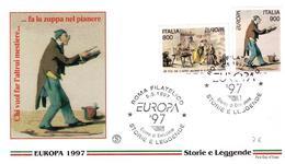 Fdc Filagrano: EUROPA 1997 ; No Viaggiata - 6. 1946-.. Repubblica