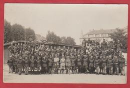 Carte Photo Groupe De Soldats Autos Mitrailleurs - Non Classés