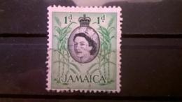 FRANCOBOLLI STAMPS GIAMAICA JAMAICA 1956 USED LOCALI MOTIVI QUEEN ELISABETH - Jamaique (1962-...)