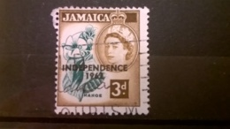 FRANCOBOLLI STAMPS GIAMAICA JAMAICA 1956 USED LOCALI MOTIVI QUEEN ELISABETH OVERPRINTED INDEPENDENCE - Jamaique (1962-...)