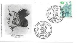 SG8504 - MARCOFILIA - ANNULLO TRENTO - 500° ANNIVERSARIO DELLA NASCITA DI BERNARDO CLESIO - 27.09.95 - SU BUSTA - 6. 1946-.. Republic