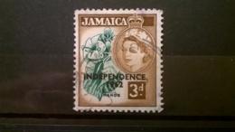 FRANCOBOLLI STAMPS GIAMAICA JAMAICA 1956 USED LOCALI MOTIVI QUEEN ELISABETH OVERPRINTED INDEPENDENCE - Giamaica (1962-...)