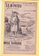 PARTITION  N°13 / LE BINIOU / JULES LEFORT / GUERIN / MUSIQUE EMILE DURAND CHANSON BRETONNE / - Musique & Instruments