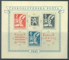 TCHECOSLOVAQUIE  - 1945 -  MNH/** - BENES KOSICE - Yv BLOC 8 Mi BLOC 6 - Lot 18901 - Blocks & Kleinbögen