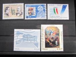 *ITALIA* LOTTO 5 USATI 2003 - LATINA SM ASSUNTA MOTORE SCOPPIO FILATELIA PRESIDENZA - 6. 1946-.. Repubblica