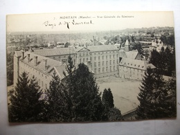 Carte Postale Mortain (50) Vue Générale Du Séminaire (Petit Format Noir Et Blanc Non Circulée ) - Autres Communes