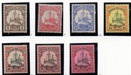 Sellos  Nº 7-9-10-11-13-14-15  Neuguinea - Colonia: Nueva Guinea