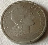 Moneda 2 Pesetas. 1937. Euzkadi. País Vasco. Guerra Civil. República Española. Original - [ 3] 1936-1939 : Guerra Civil