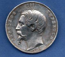 Médaille Exposition De Paris 1855  -- étain  -- 43.60 Grs  -  état  SUP - France