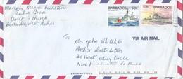 Barbados 1989 Bridgetown USCG Hamilton HMCS Saguenay Cover - Barbados (1966-...)