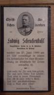 Sterbebild Wk1 Ww1 Bidprentje Avis Décès Deathcard KUK Pionier Batl. Trient ADIGE ETSCH Fluss 23. Juni 1909 - 1914-18