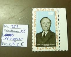 Mauritanie  MiNr: 353 Adenauer   Postfrisch ** MNH     #4902 - Mauritanie (1960-...)