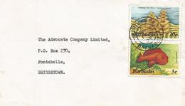 Barbados 1985 Worthing Tree Worm Grouper Fish Cephalopholis Fulva Domestic Cover - Barbados (1966-...)