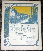 Marche Officiers Des Chasseurs Alpins - Partition Musicale Illustration - Editions Binetti Vaudey Rue D Antibes Cannes - Partitions Musicales Anciennes