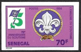 SENEGAL  1984  -  YT 608 Non Dentelé  -   Scoutisme - Emblème   - NEUF** - Sénégal (1960-...)