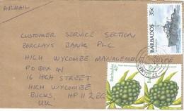 Barbados 1998 St James Sugar Apple Fruit HMS Barbados Cover - Barbados (1966-...)