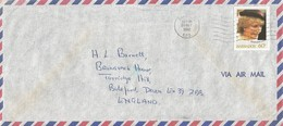 Barbados 1982 Bridgetown Princess Diana Cover - Barbados (1966-...)