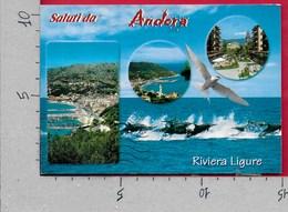 CARTOLINA VG ITALIA - Saluti Da ANDORA (IM) - Vedutine Multivue - 10 X 15 - ANN. 2002 SAVONA - Saluti Da.../ Gruss Aus...